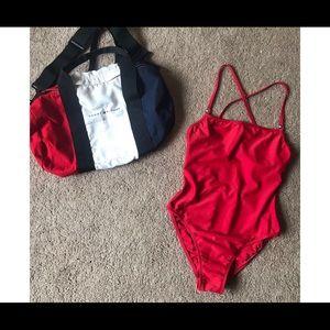 Vintage Tommy Hilfiger Swimsuit & Bag